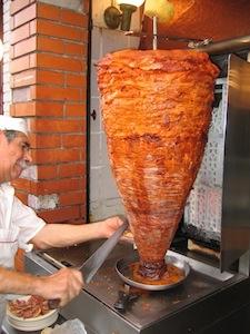 Pork, shawarma style, for tacos al pastor